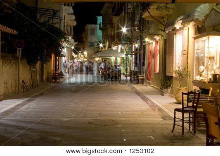 Night Street Nafplio Greece