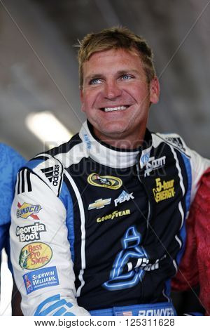 Ft. Worth, TX - Apr 08, 2016: Clint Bowyer (15) practices for the Duck Commander 500 at the Texas Motor Speedway in Ft. Worth, TX.