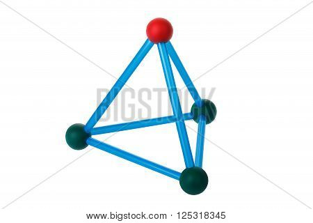 Pyramid of four triangles. Object on a white background