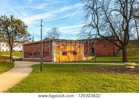 Old military fortification - City Walls in Zamosc Poland. poster