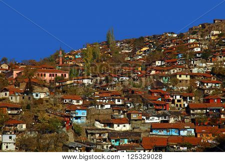 View of the Ankara Turkey. Autumn. Blue Sky.