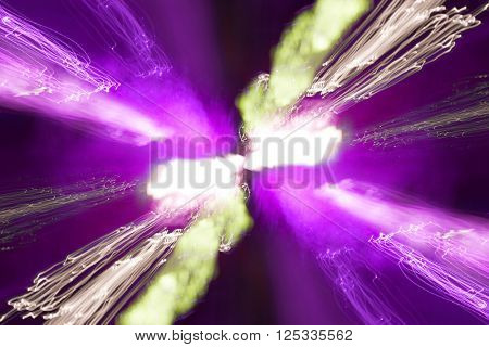 Abstract background of disco motion night lights