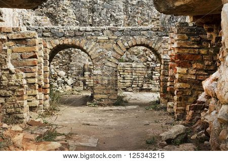 Roman Empire ruins of Volubilis, Morocco, Africa