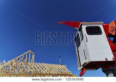 Close Up Of A Cable On A Boom Crane