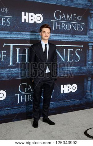LOS ANGELES - APR 10:  Dean-Charles Chapman at the Game of Thrones Season 6 Premiere Screening at the TCL Chinese Theater IMAX on April 10, 2016 in Los Angeles, CA
