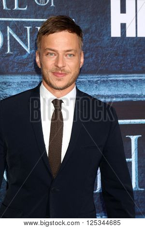 LOS ANGELES - APR 10:  Tom Wlaschiha at the Game of Thrones Season 6 Premiere Screening at the TCL Chinese Theater IMAX on April 10, 2016 in Los Angeles, CA