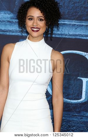 LOS ANGELES - APR 10:  Nathalie Emmanuel at the Game of Thrones Season 6 Premiere Screening at the TCL Chinese Theater IMAX on April 10, 2016 in Los Angeles, CA