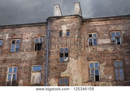 View of the remain facade of the Warsaw Ghetto.