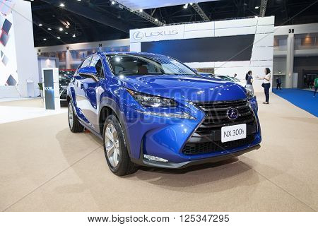 BANGKOK - MARCH 22: Lexus NX 300h car on display at The 37 th Thailand Bangkok International Motor Show on March 22 2016 in Bangkok Thailand.