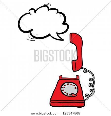telephone with speech bubble cartoon