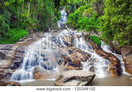 Na Muang 2 waterfall, Koh Samui, Thailand