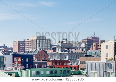 View of Portland Maine from the Sea