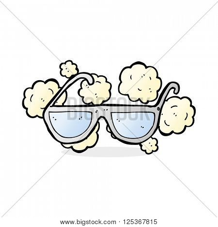 cartoon dusty old spectacles