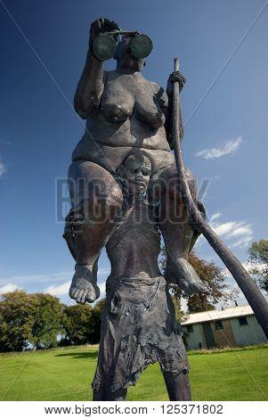 FREDERICIA DENMARK - SEPTEMBER 15: Jens Galschiøt - a Danish sculptor shows his sculpture