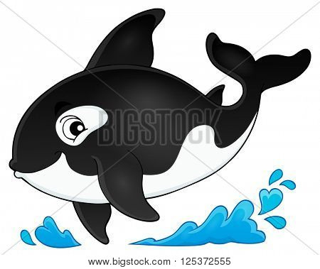 Orca theme image 1 - eps10 vector illustration.