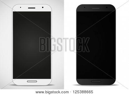 Modern smartphones mockup. Vector layout