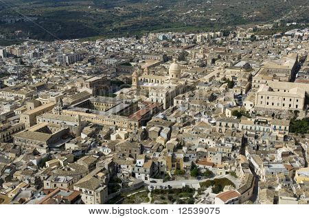 noto from above, Dome, Siracusa, Sicily, Italy