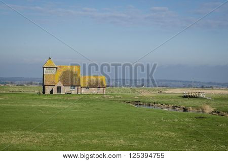 St Thomas a Becket Church in Fairfield Romney Marsh Kent UK