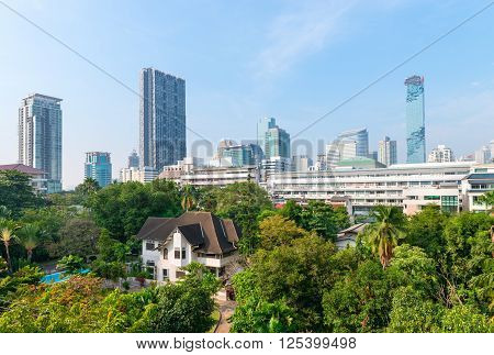 Bangkok's Beautiful Urban Skyline