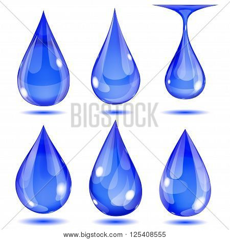 Opaque Blue Drops
