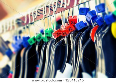 Clothes hangers with sizes
