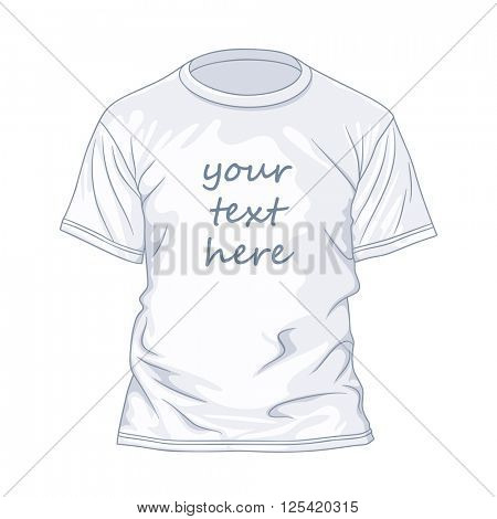 White t-shirtdesign template. Vector illustration