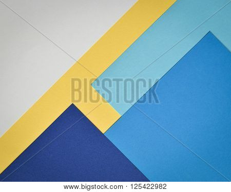 abstract background paper page with blue and white and yellow colors