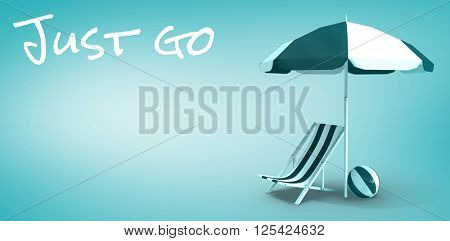 Just go message against blue vignette background