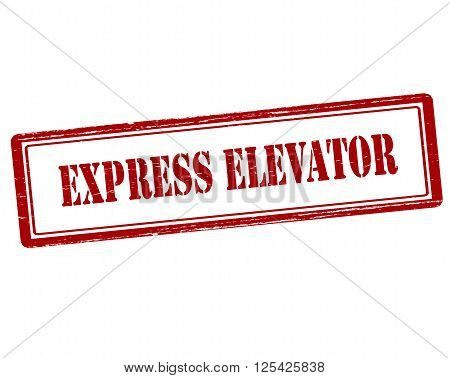Rubber stamp with text express elevator inside vector illustration