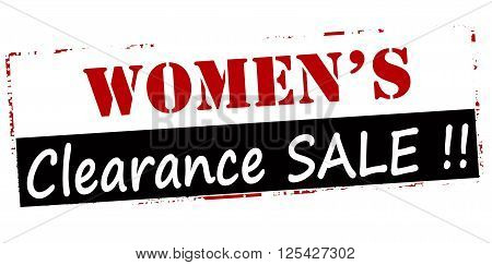 Rubber stamp with text women clearance sale inside vector illustration