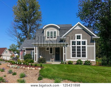 Craftsman style vacation home in a beach community poster