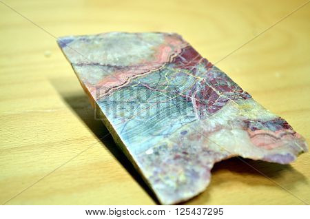 Mineral quarz agate colorful and polished stripes