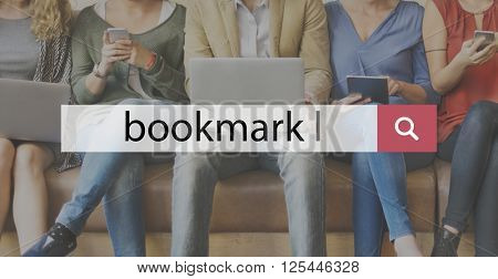Bookmark Book Reading Search Word Concept