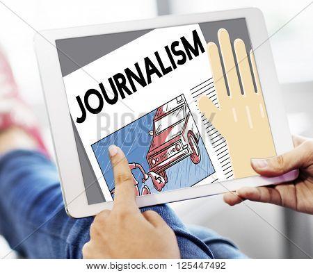 Journalism News Interview Article Content Concept