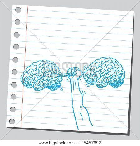Brains dumbbell