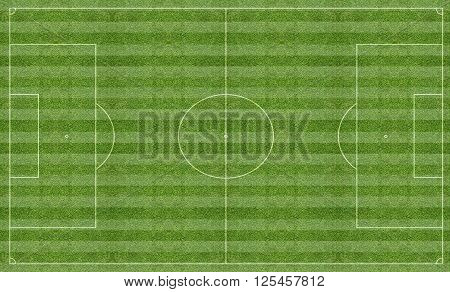 Illustration of a football pitch with line markings