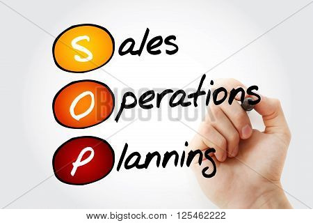 Sales And Operations Planning With Marker