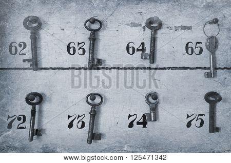 Vintage Keys With Numbers