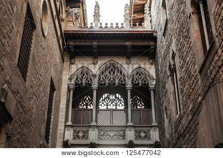 Carrer Del Bisbe, Gothic Quarter, Barcelona