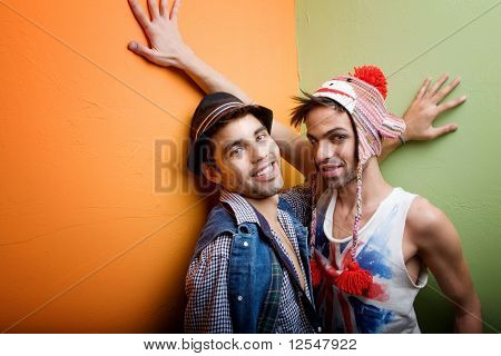 Two Handsome Gay Young Men