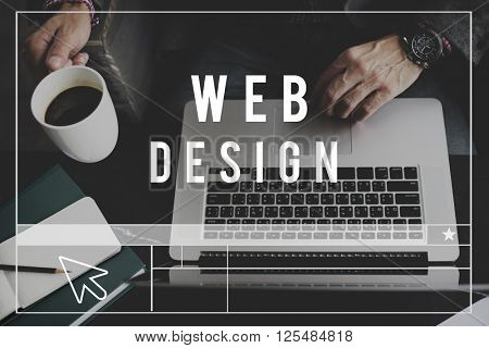Web Design Homepage Digital Notebook Connection Concept