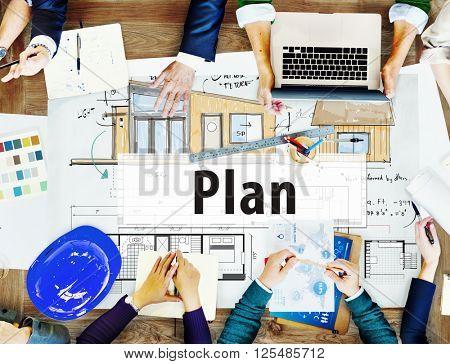 Construction Design Plan Blueprint Planning Concept