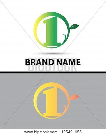 Vector sign Eco number one logo template