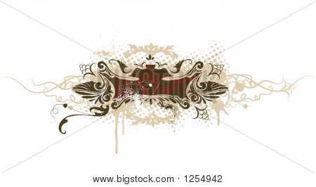 grunge decorative banner. can be used for superscribe poster