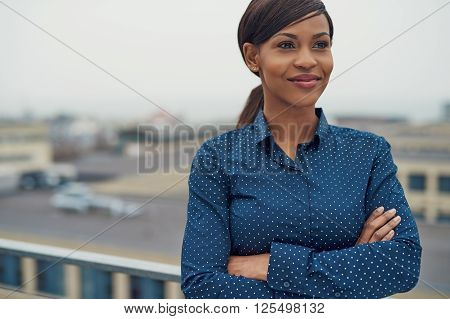 Confident Friendly Black Business Woman