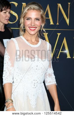 LOS ANGELES - APR 11:  Elsa Pataky at the The Huntsman Winter's War American Premiere at the Village Theater on April 11, 2016 in Westwood, CA
