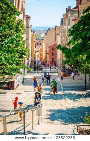 View Of Lyon City Street