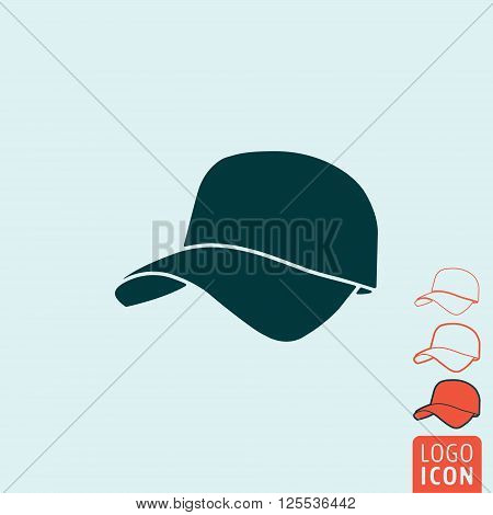 Cap icon. Cap symbol. Baseball cap icon isolated. Vector illustration