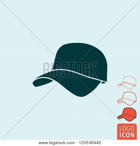 Cap icon. Cap symbol. Baseball cap icon isolated. Vector illustration