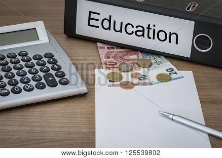 Education Written On A Binder